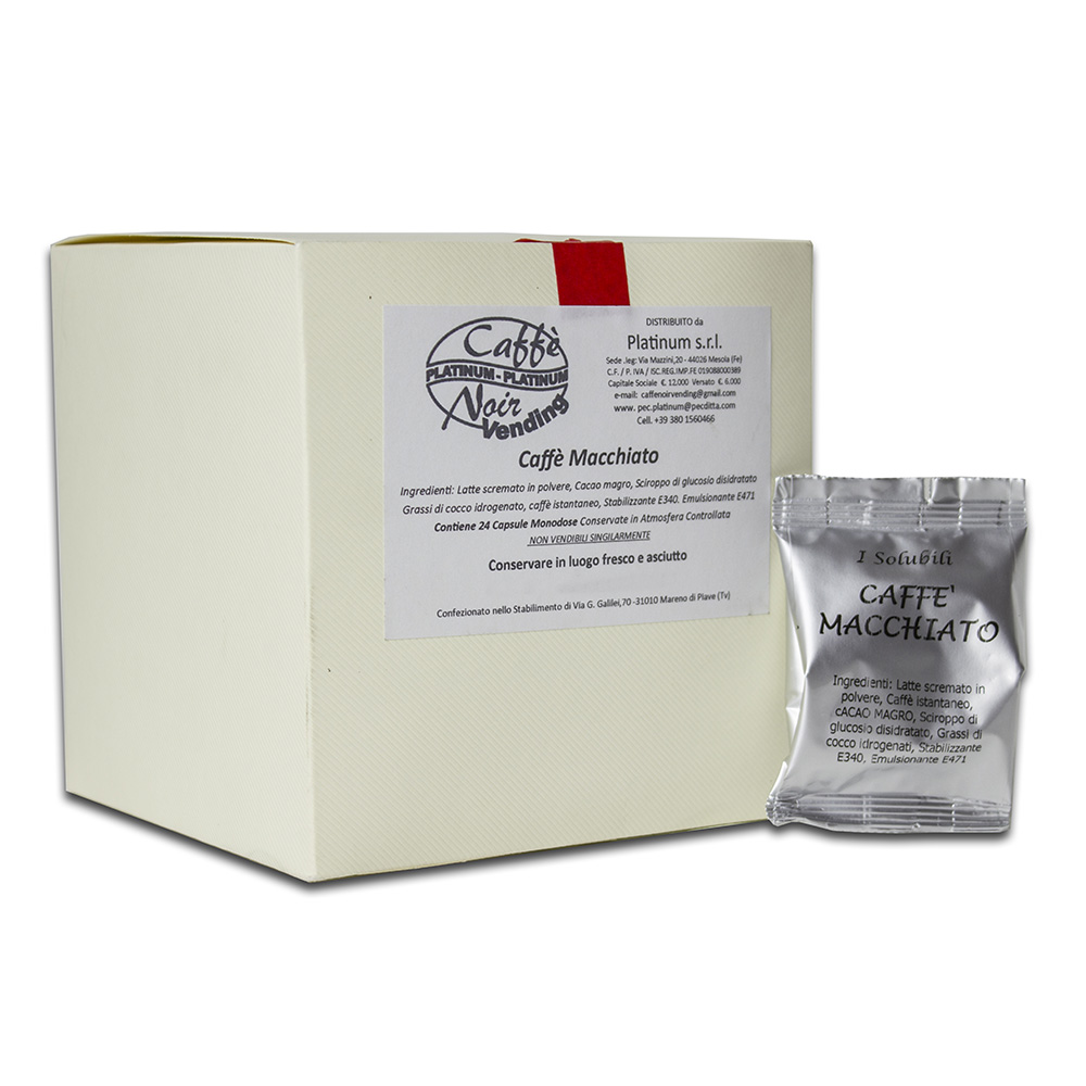 Confezione di Caffè Macchiato in capsule Caffè Noir