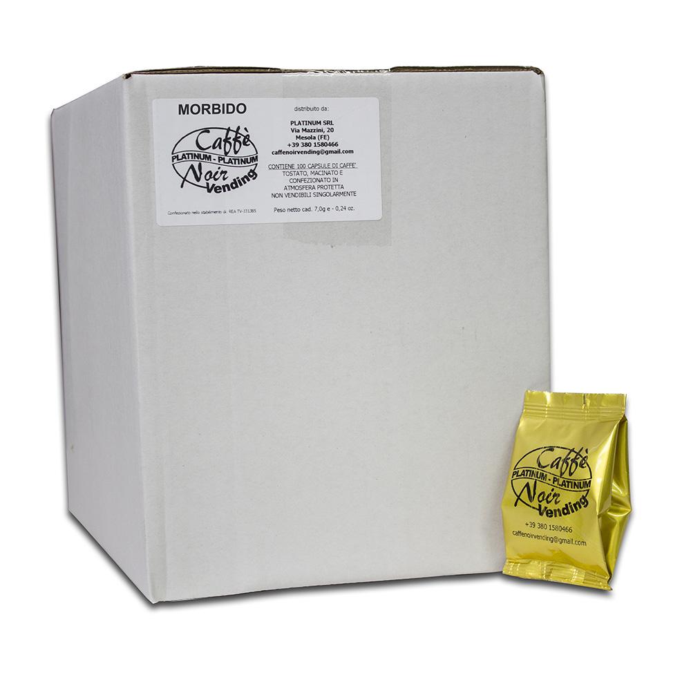 Confezione da 100 capsule di Caffè Morbido Caffè Noir