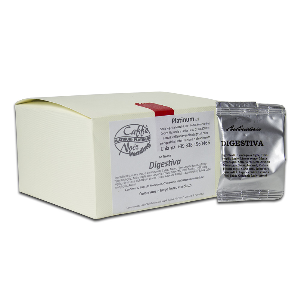 Confezione di Tisana Digestiva in capsule Caffè Noir