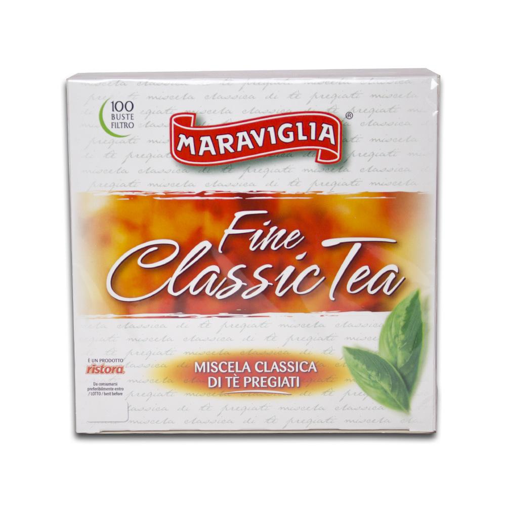 Confezione con buste di Fine Classic Tea Maraviglia, Caffè Noir